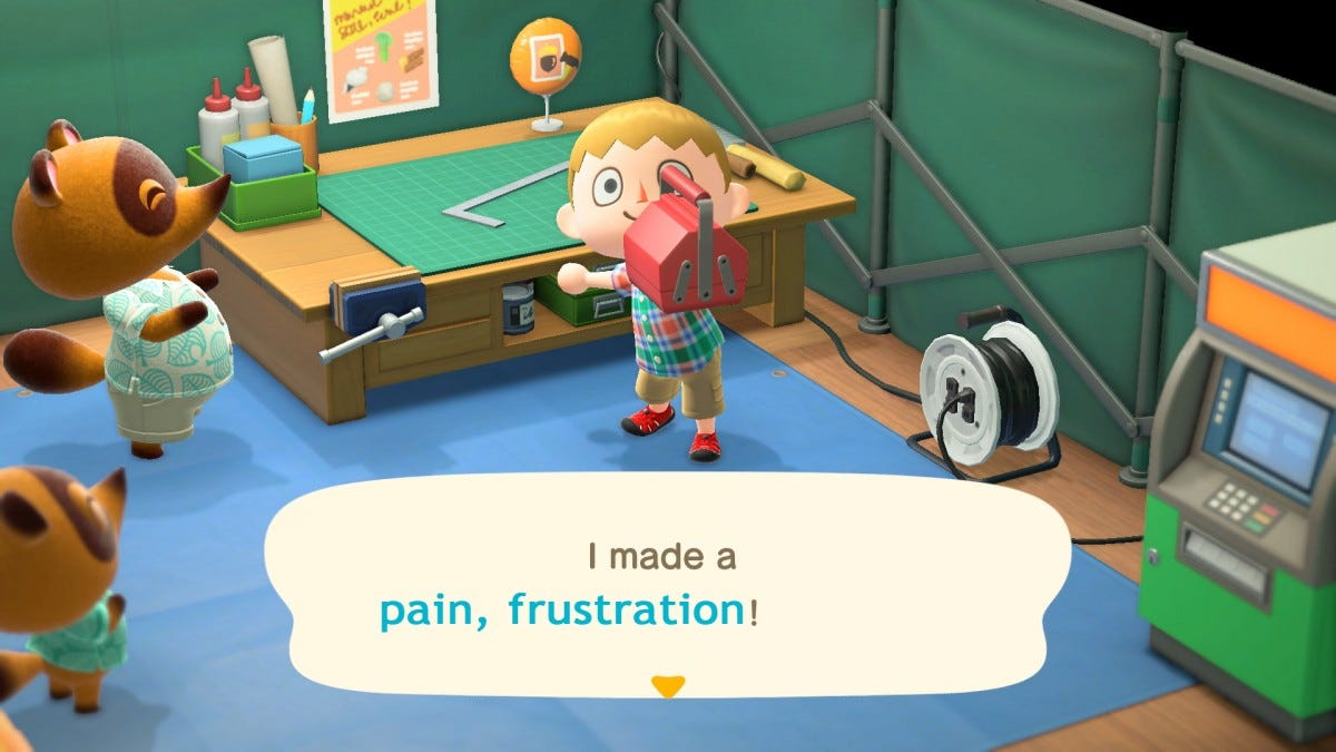 A screenshot of the new Animal Crossing game.