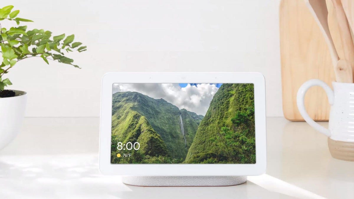 Google Home Hub in Picture Mode