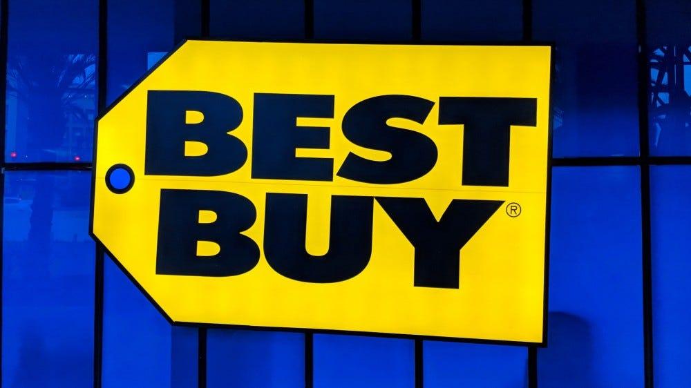 Best Buy logo sign