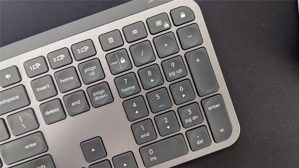 The MX Keys' 10 key