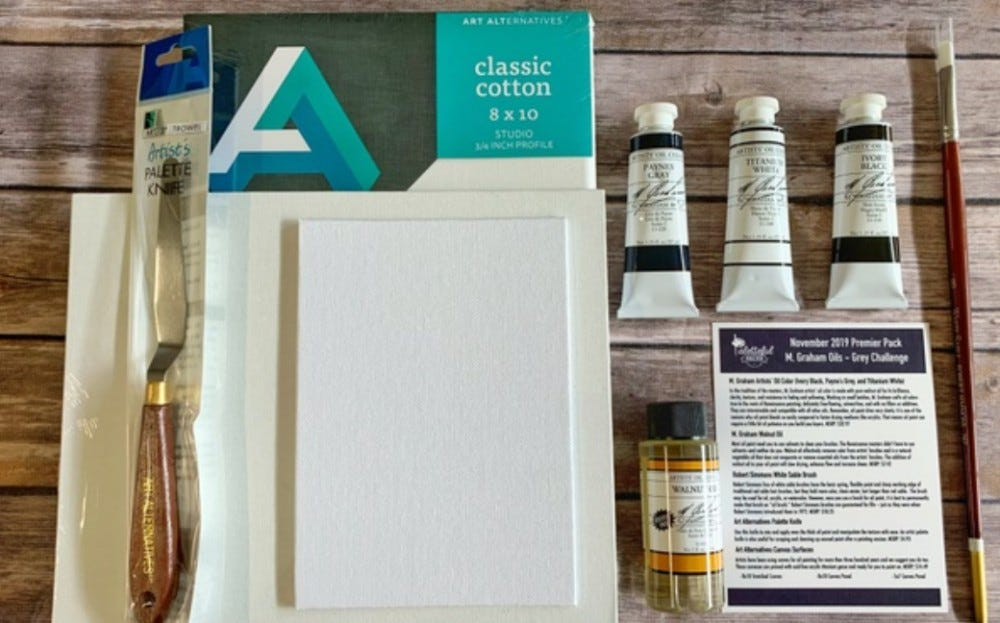 Paletteful Packs cratejoy monthly art supply subscription box art supplies for kids and beginners