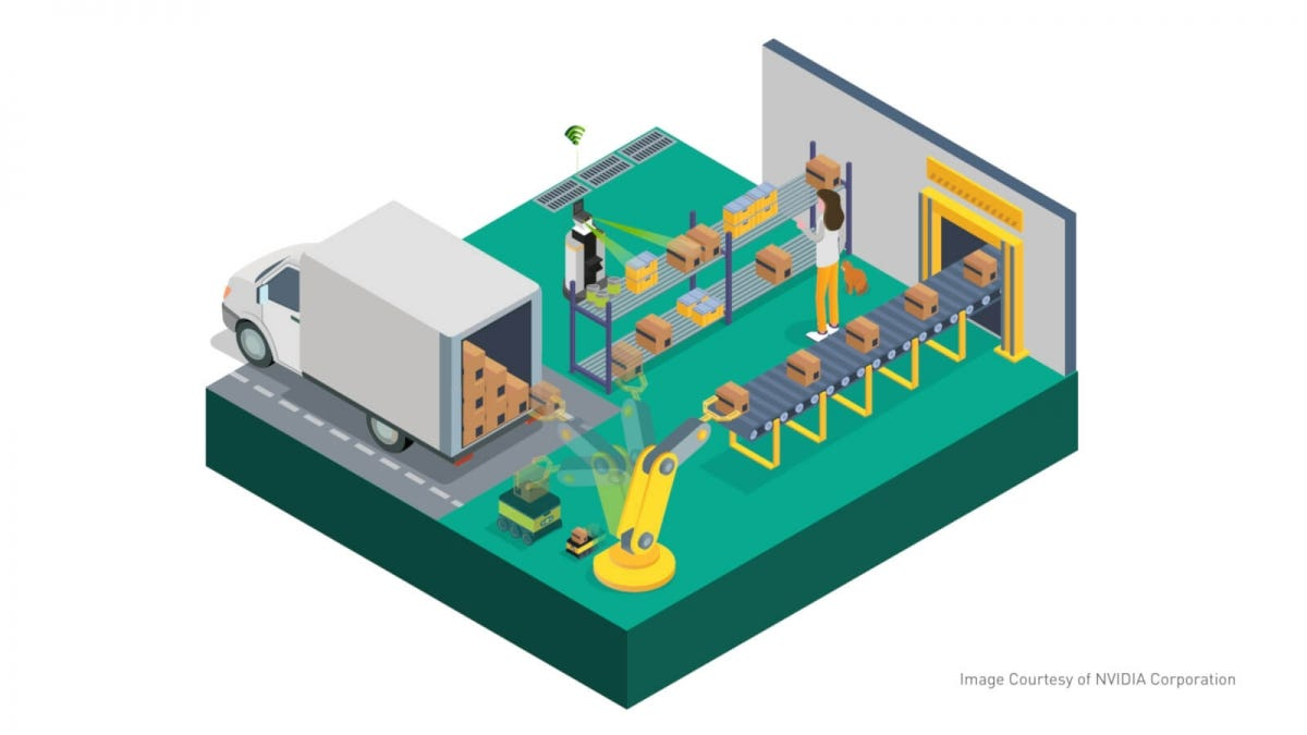 Nvidia-Powered Package Processing Illustration