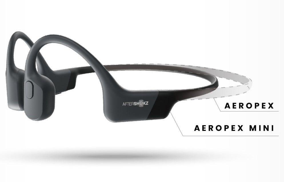 Aeroepex vs Aeropex Mini size comparison