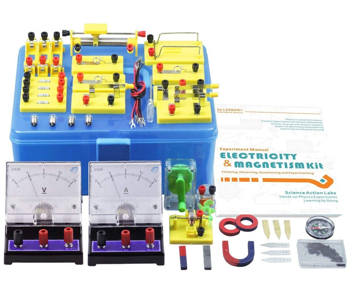 Physics Science Electricity Magnetism Basic Circuit Experiment Kid Learning Tool