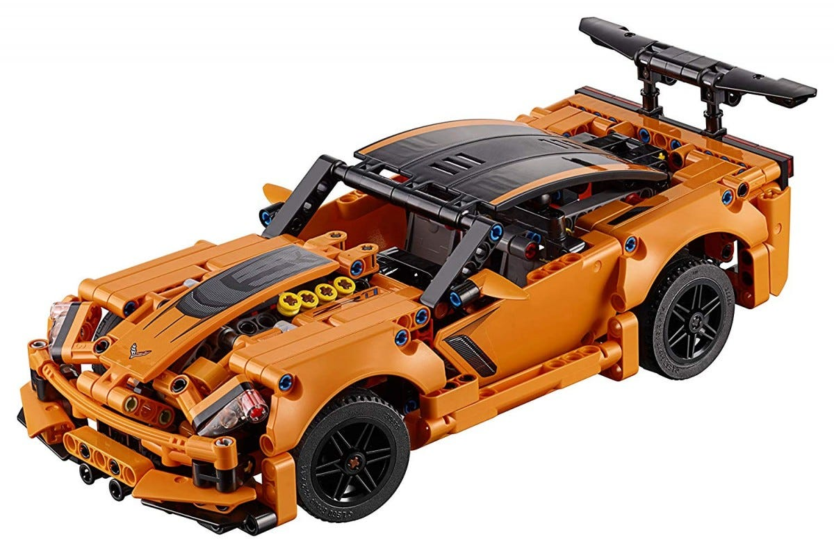 The LEGO Technic Chevrolet Corvette.