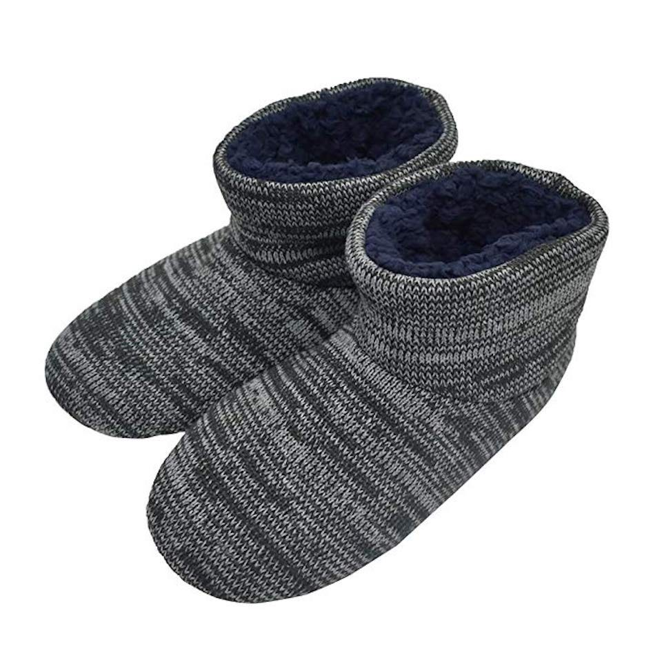 cd4ab9096c3 Ankles get cold as well as toes. If you hate to have cold ankles then buy a  pair of Q-Plus Knit Rock Wool Warm Men Indoor Pull on Cozy Memory Foam  Slipper ...