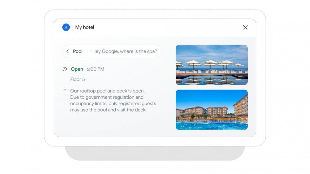 A Nest hug with answers about Pool hours.
