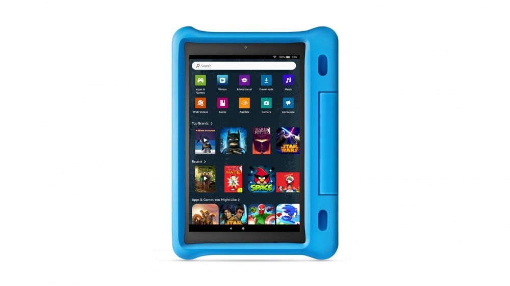 An Amazon Kids fire theme that more closely resembles an Adult's fire tablet.