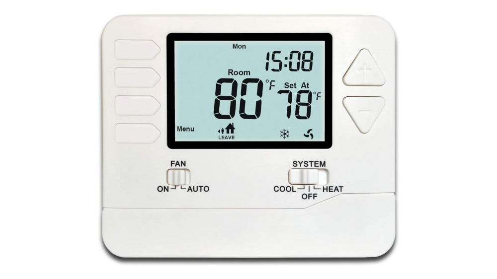 The Heagstat H715 programmable thermostat.