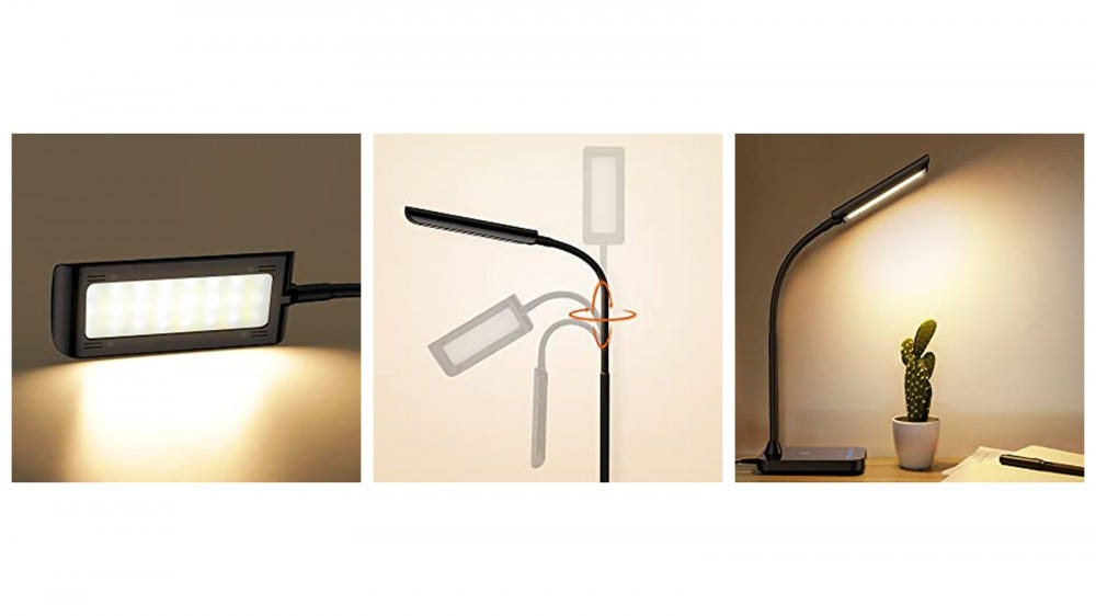 TaoTronics Flexible LED Lamp from different angles