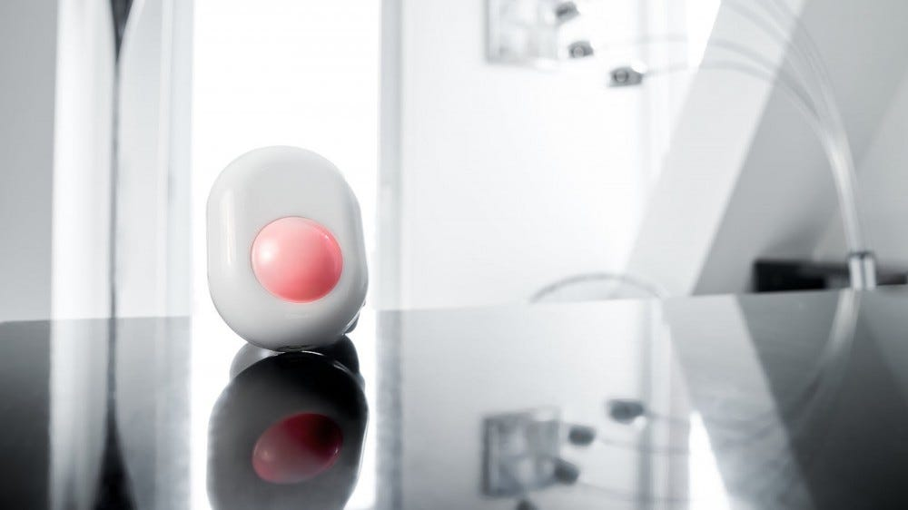 A motion sensor in a kitchen.