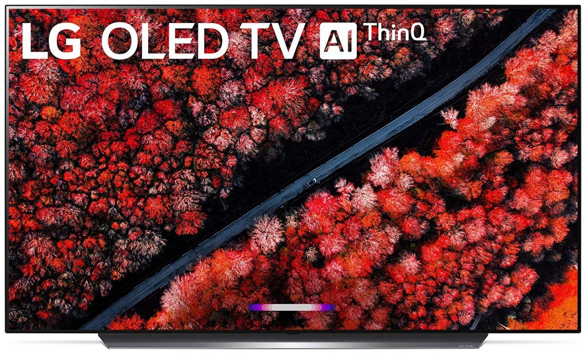 The LG 65-inch OLED C9 TV.