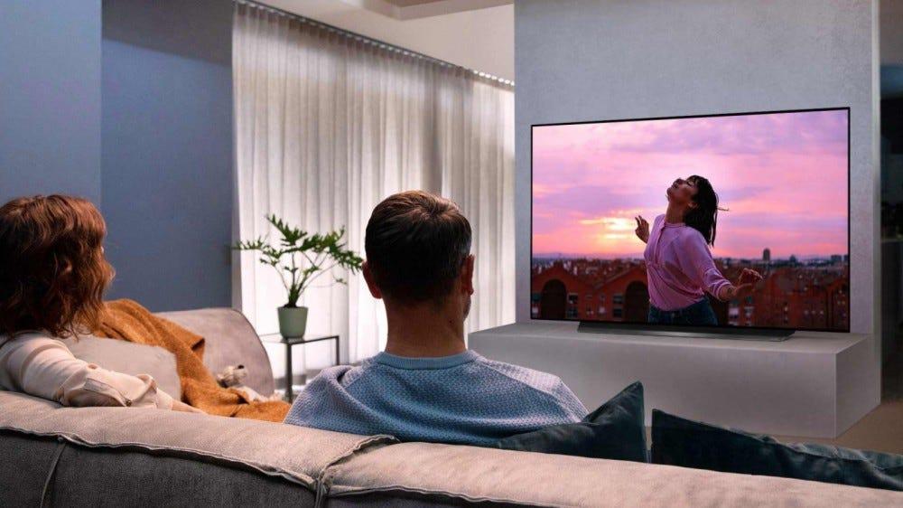 LG OLED65CXPUA TV in living room