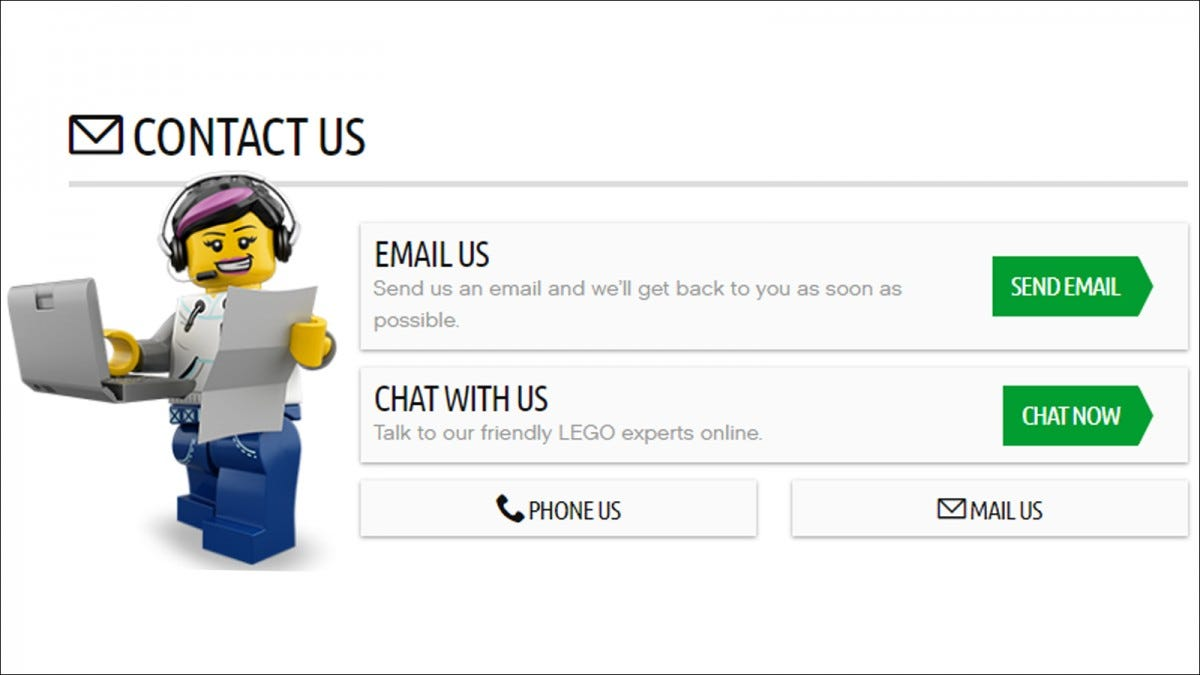 LEGO Contact Page