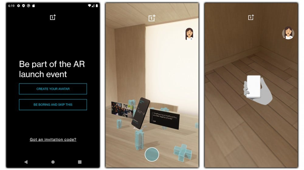 Screenshots of the Nord Launch AR app.