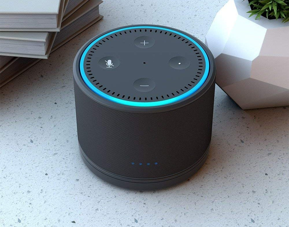 amazon, echo, echo dot, ninety7, dox, speaker dock, battery,