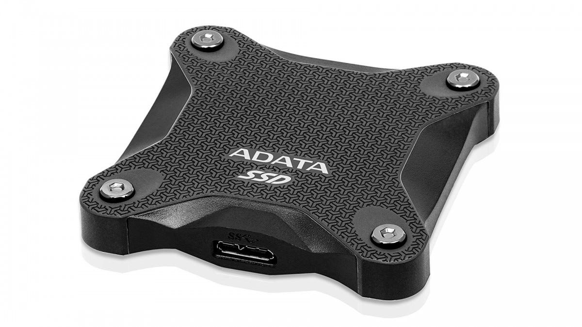 The ADATA SD600Q Portable SSD.