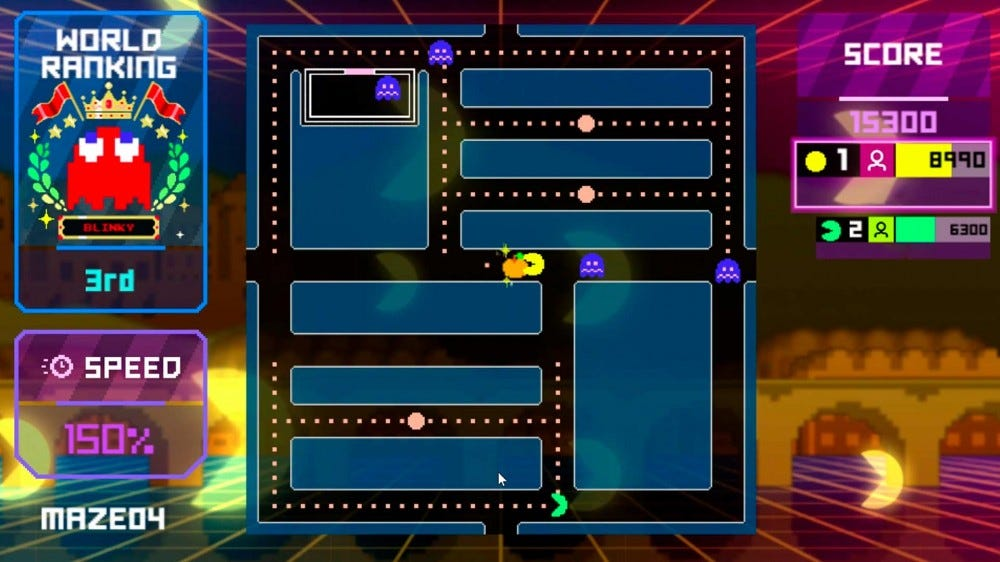 A screenshot of the Pac-Man Live Studio game.