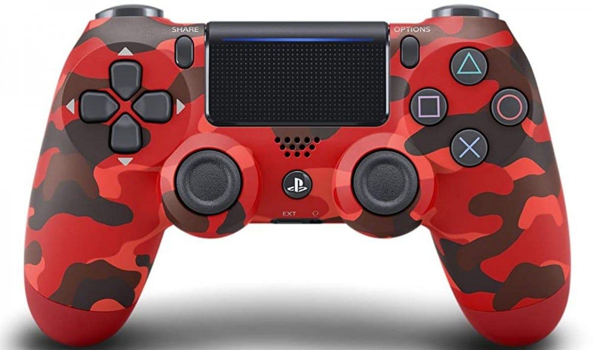 giao diện điều khiển ps4 cam đỏ điều khiển