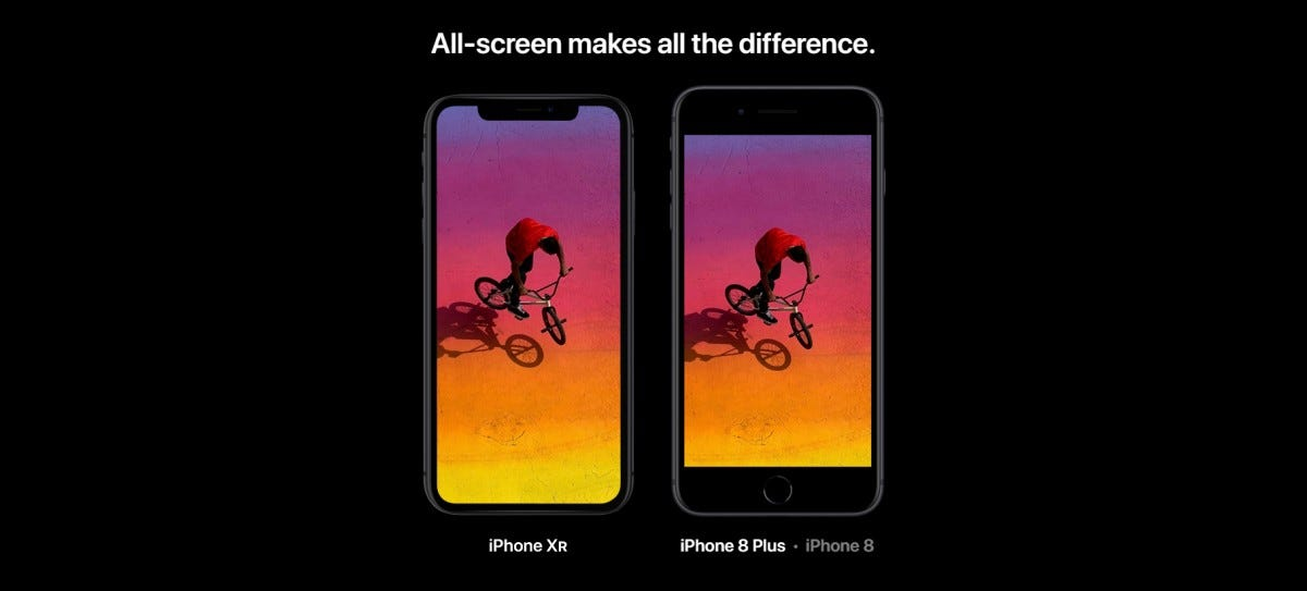 compare iphone 8 plus and xr max
