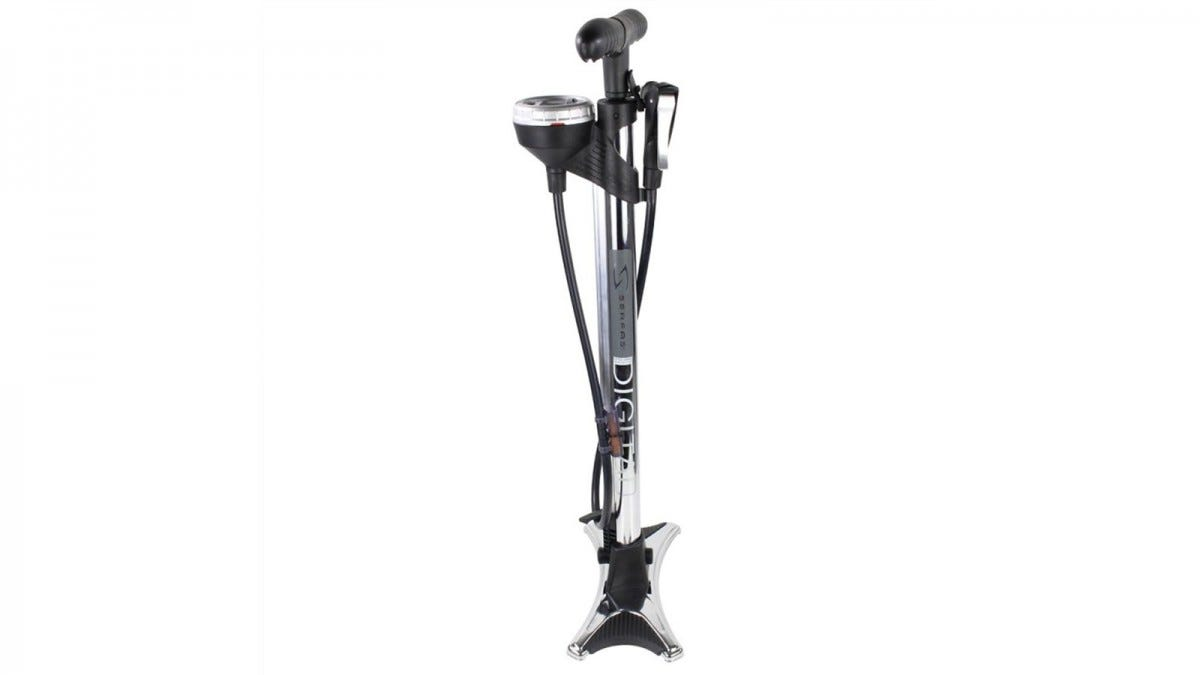 The Serfas Digital bike pump.