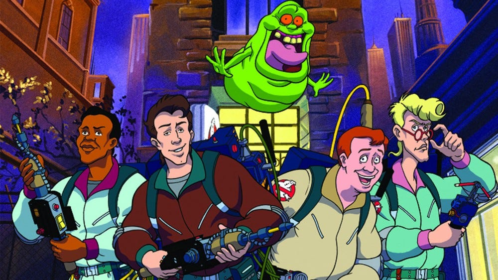 The Real Ghostbusters promo recording