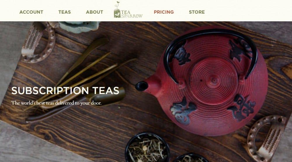 Tea Sparrow tea subscription box tea kettle