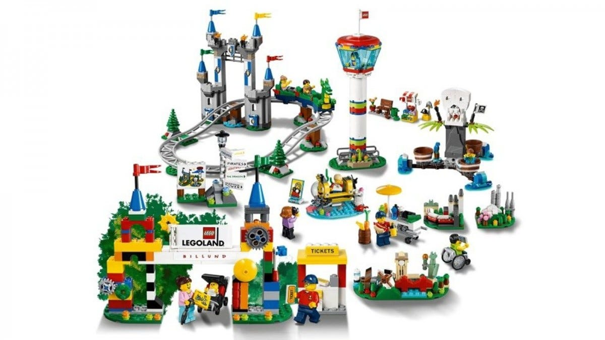 The LEGOLAND Lego Set, complete with dragon coaster.