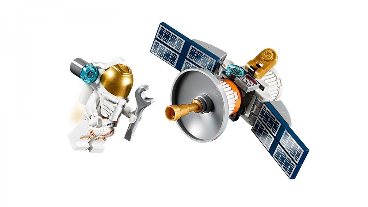 LEGO Astronaut With Space Satellite PolyBag