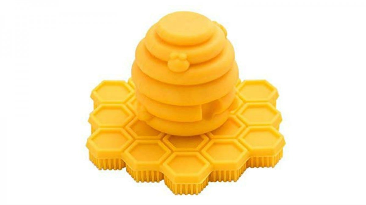 The Big Bee, Little Bee ScubBEE Silicone Hand and Body Scrubber.