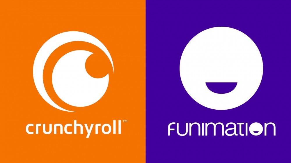 آرم های Crunchyroll و Funimation.
