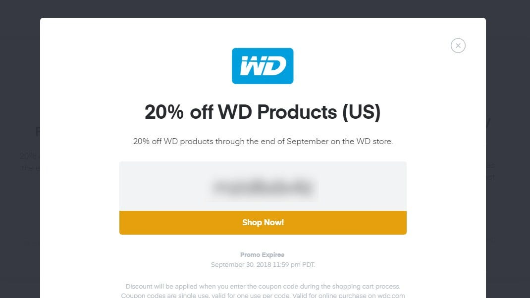 f1d618f6dba7 If that doesn't mean anything to you, you can still get a discount on  Western Digital hard drives just for dropping ...