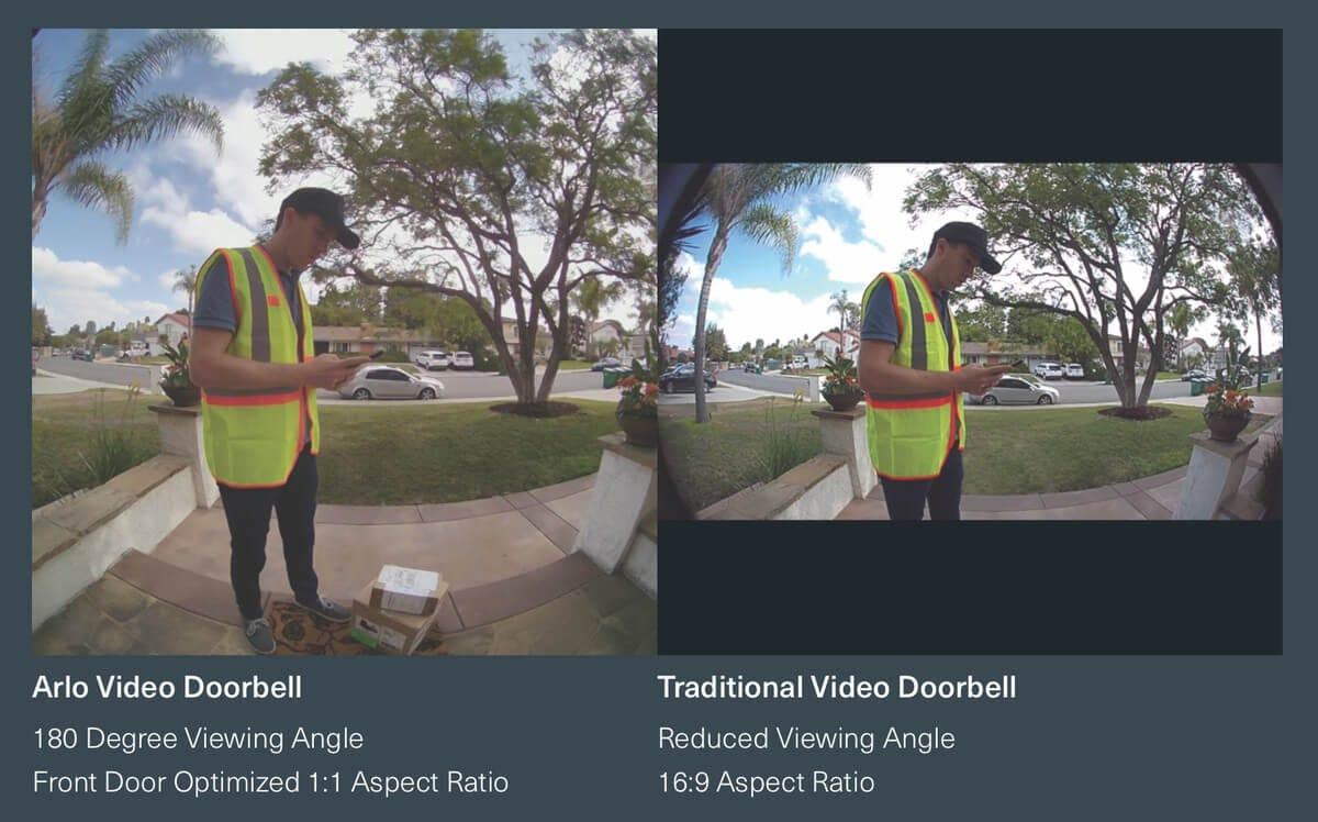 Arlo Video Doorbell 1:1 Aspect Ratio vs. 16:9