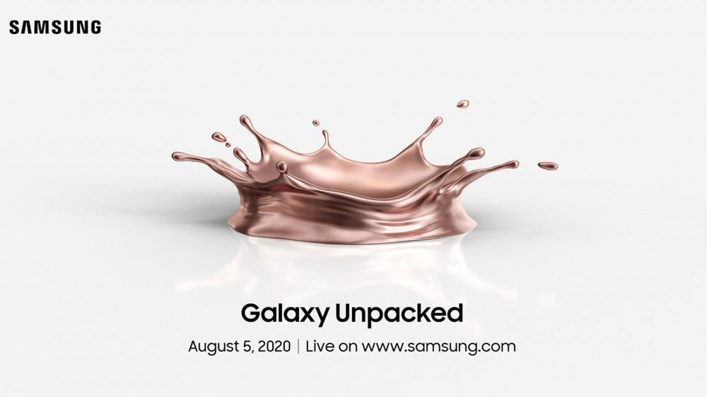 An illustration from the Galaxy Unpacked invite.