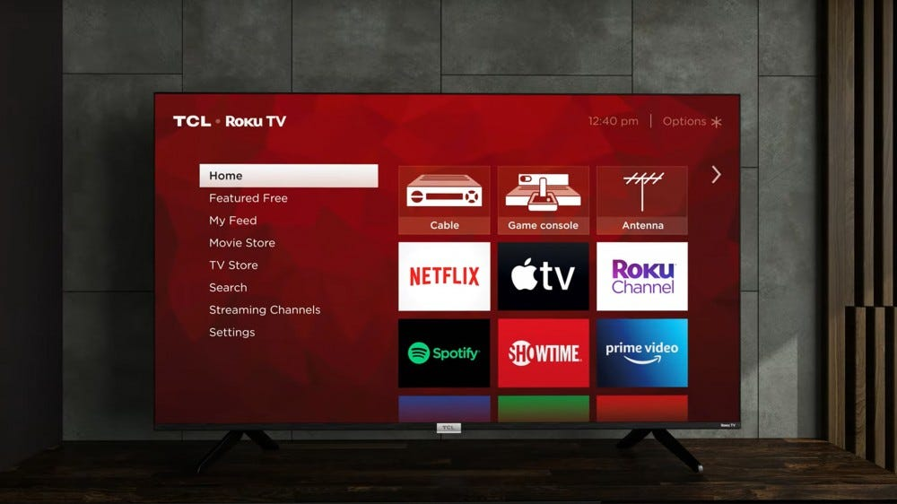 New TCL 5-Series and 6-Series TV on stand