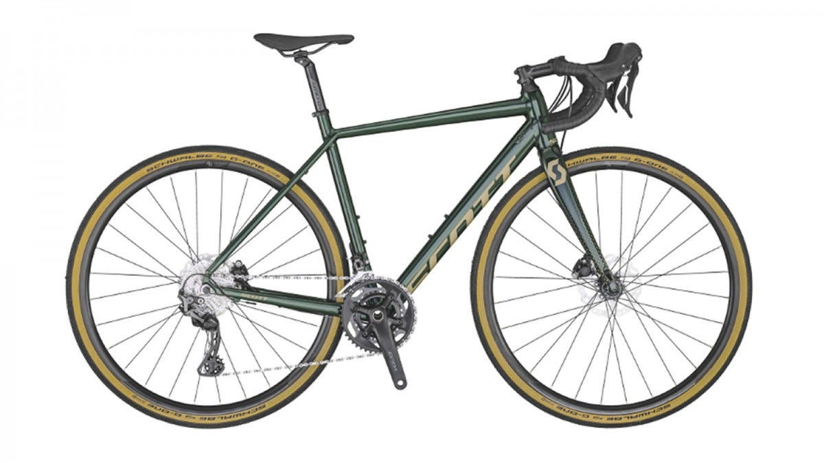 The Scott Contessa Speedster Gravel 15 Bike.