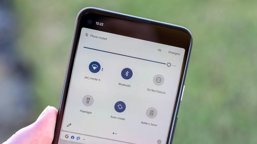 Pixel 4a 5G notification