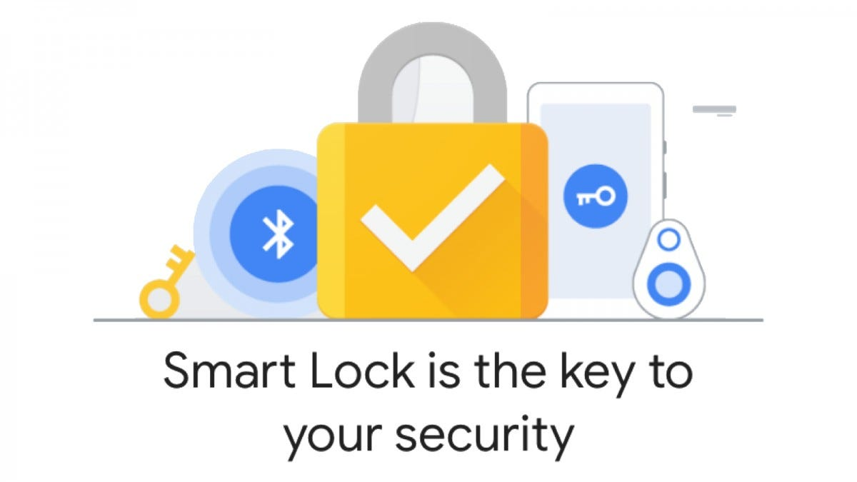 The Smart Lock logo, featuring keys, a padlock, a usb security key, a phone, and the Bluetooth symbol.