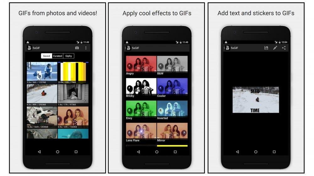 Aplicación de 5 segundos Aplicación de creación de GIF