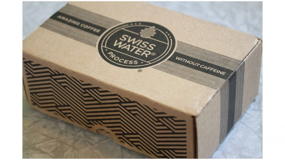 Swiss Water best coffee subscription box for decaf coffee