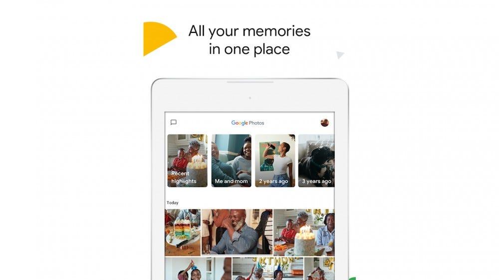 A screenshot of Memories in the Google Photos app.