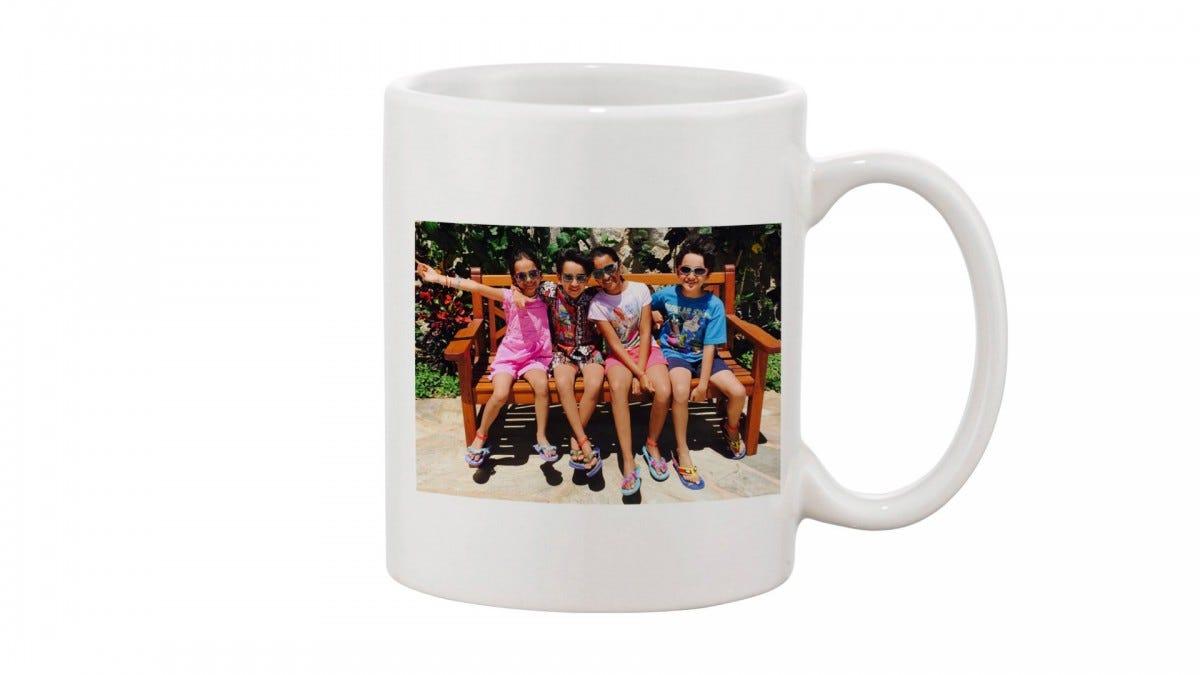 A customized mug.