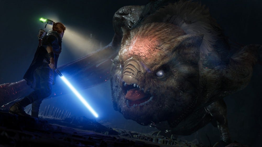 Jedi: Fallen Order-Cal fights a giant bat