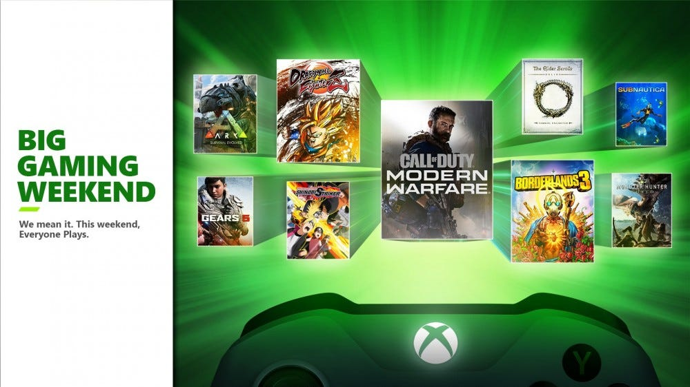 The Xbox Big Gaming Weekend banner.