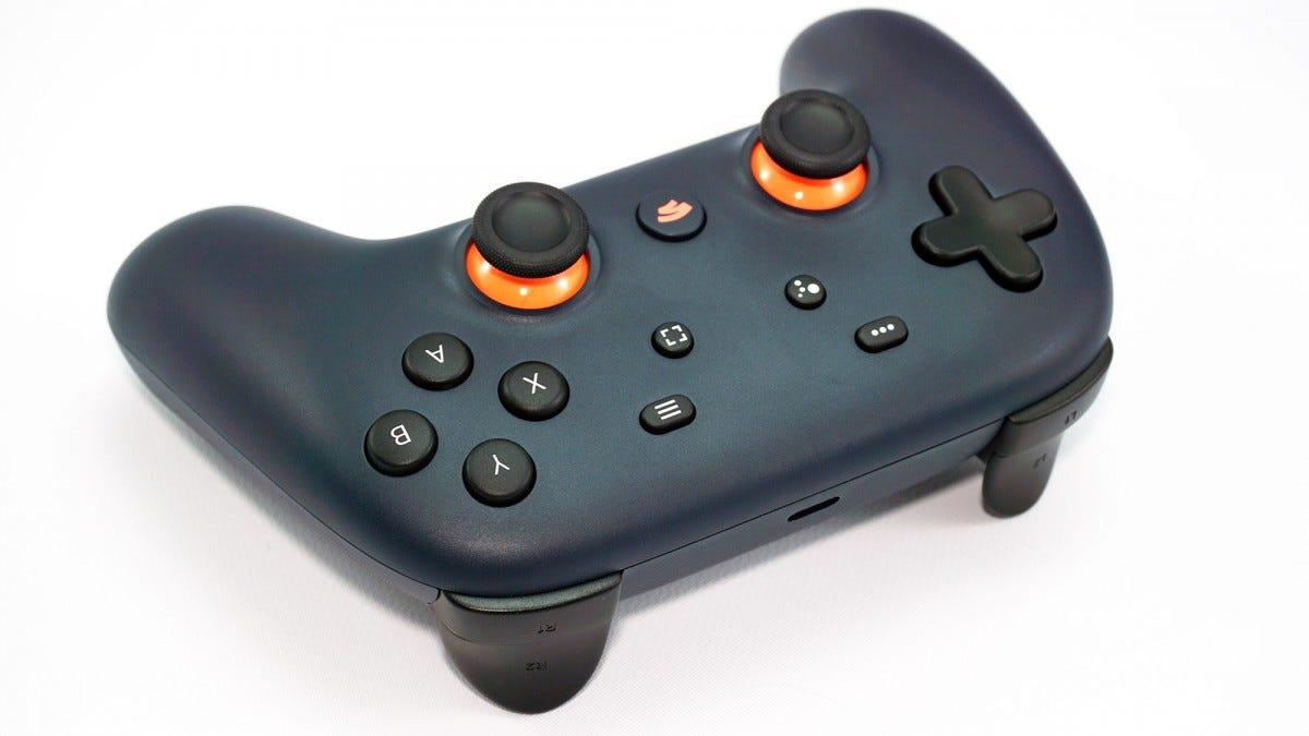 The controller from the front.
