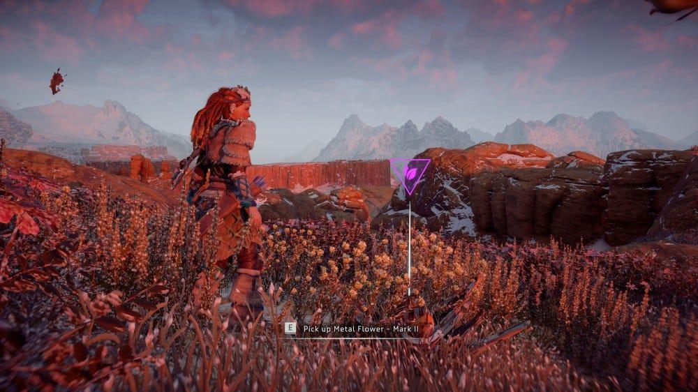 Horizon Zero Dawn metal flower screenshot