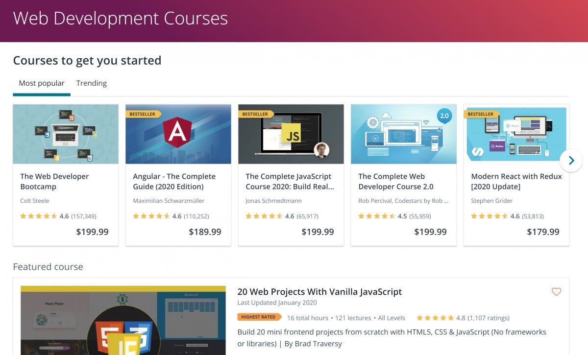 Udemy Coding Courses