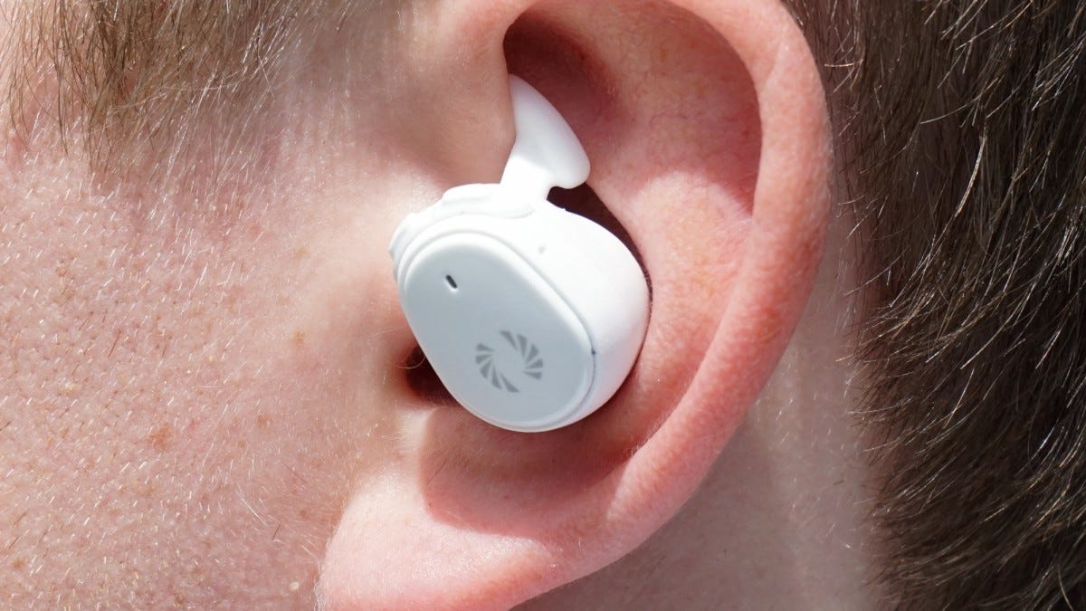"""The silicone """"awings"""" can grip the top of your lobe or squeeze into the bottom for more pressure."""
