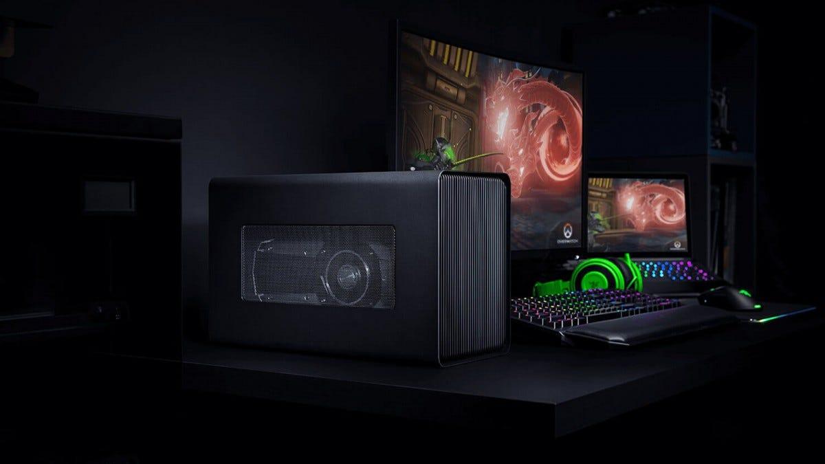 A photo of the Razer Core X eGPU