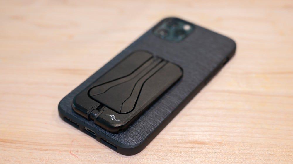 Peak Design Mobile Tripod attached to phone